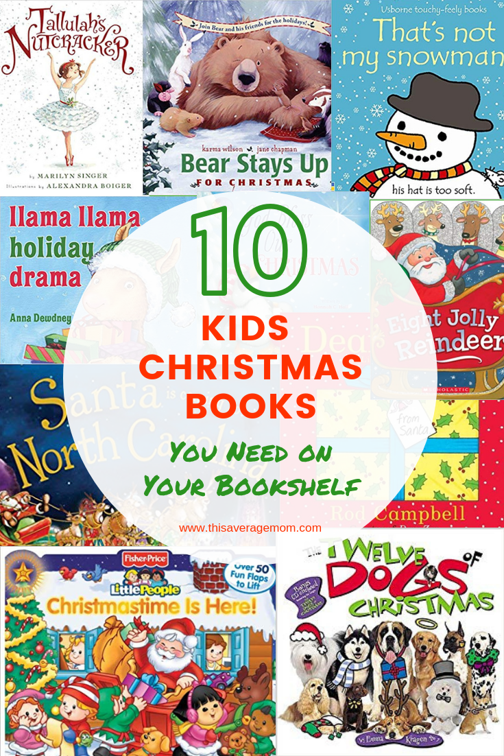 Rounding up 10 Kids Christmas books that are just too cute! #holiday #christmas #books #reading