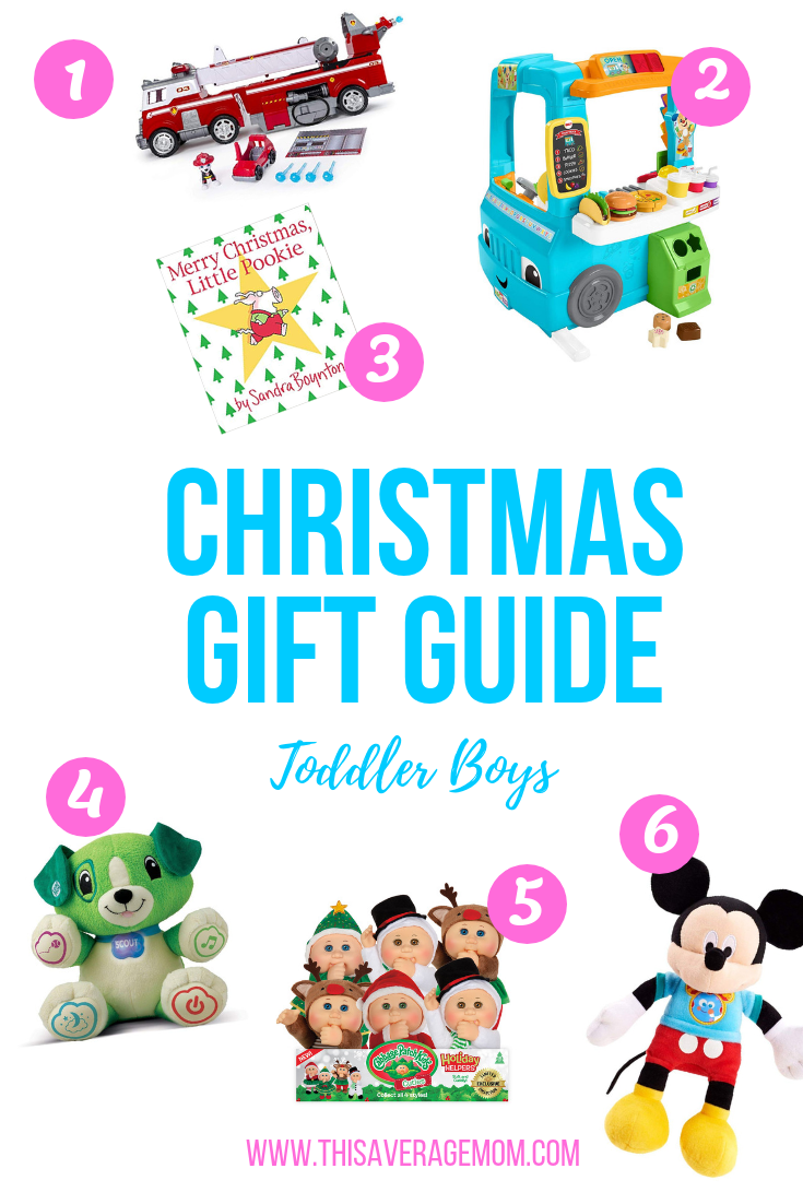 Need some gift ideas for toddler boys? Here's my picks for Christmas gifts for boys ! #giftguide #holiday #toys