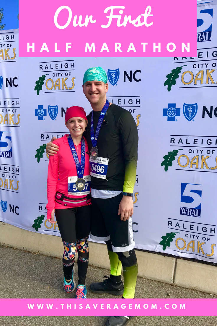 Thinking of running a half marathon? Sharing our City of Oaks half marathon experience in Raleigh, NC. #runner #running #fitness #exercise #13.1