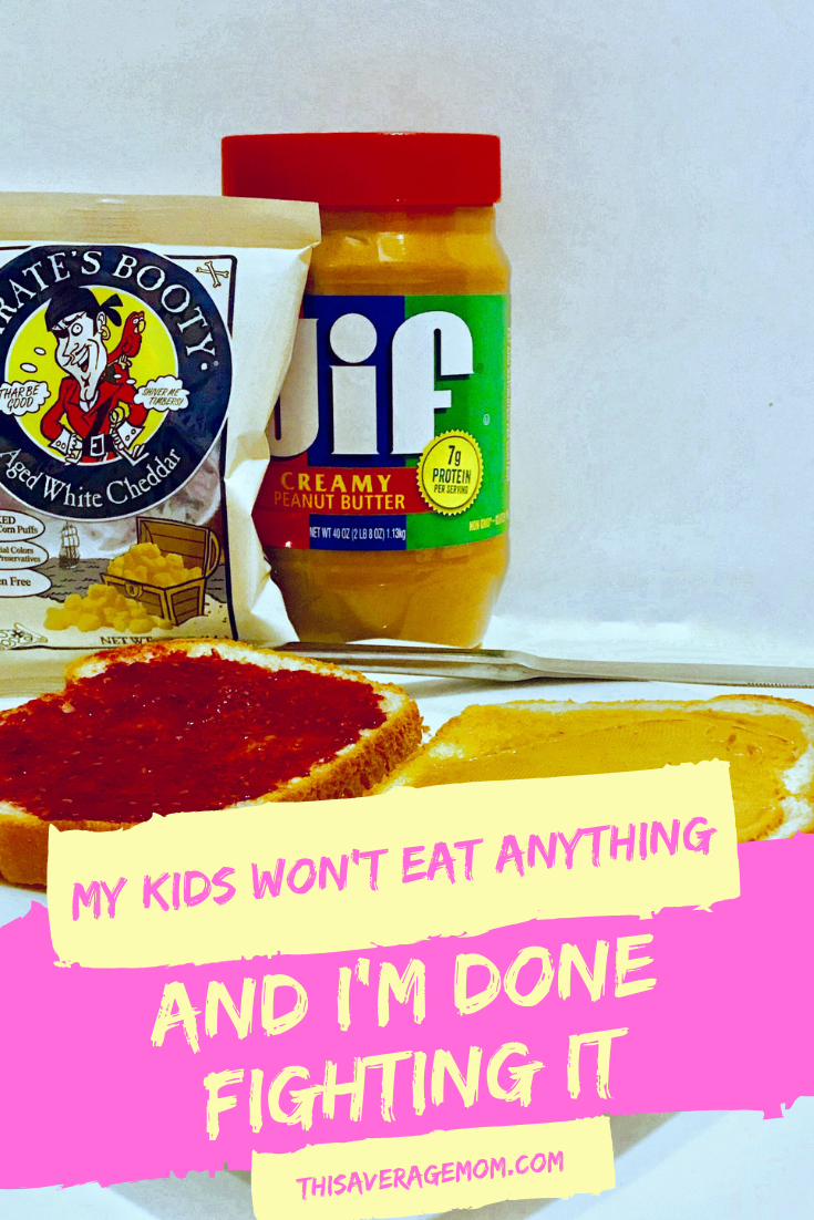 Kids won't eat anything? Have no clue how to feed picky eaters? Me either--and I'm done fighting it. Pirate's Booty-loving mamas, UNITE!