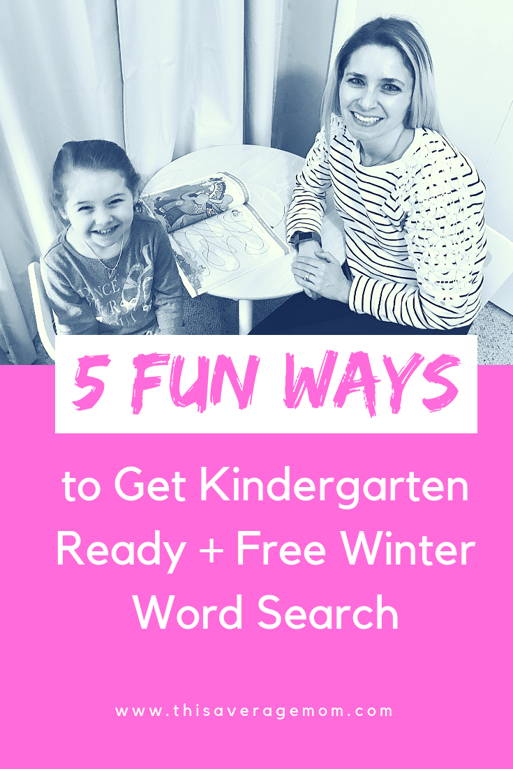If you're child is going to kindergarten in the fall, you might need a few ways to get them ready! Providing a free word search and some ideas on what you can do at home. #learning #earlyeducation #education #preschool #kindergarten