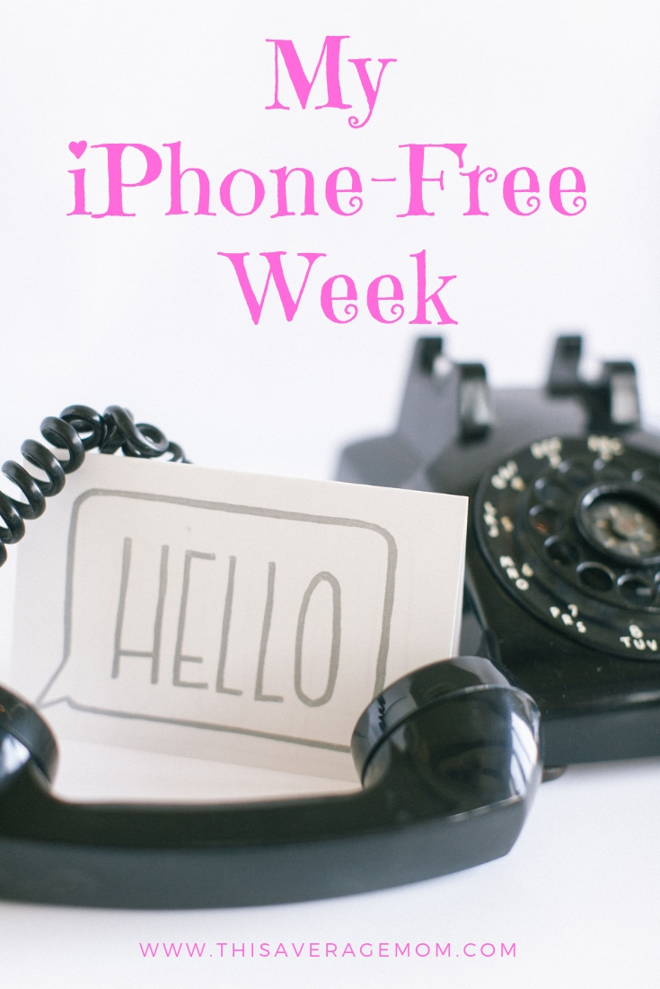 Ever feel like your smart phone controls your life? Do you use your phone when you should be doing 100 other things? I gave up my iPhone for a week...here's what I discovered. #phonefree #smartphone #nophoneforyou