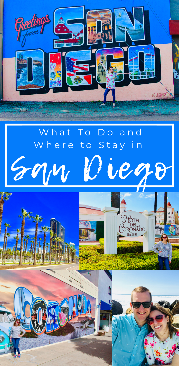 Planning a trip to San Diego? This is your guide to what to do in San Diego, California. Sharing our favorite spots and hotels on the blog! #sandiego #gaslampquarter #seaportvillage #coronado #explore #travel