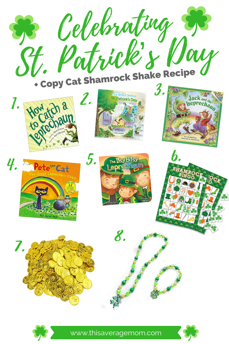 St. Patrick's Day ideas and a Shamrock Shake recipe are on the blog! St. Pat's is a big deal in our house, with leprechaun traps to be made and green pee finding its way into our toilets. I'm also sharing a few cute St. Patrick's Day books. Head to the blog for all thing St. Patrick's!