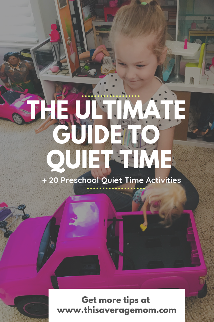 What do you do if your kids are too old for naps but still need rest? You do QUIET TIME!!! Quiet time is a much needed break for the whole house. In this blog post, I'm breaking down quiet time AND giving you 20 ideas for preschooler and kindergarten quiet time.