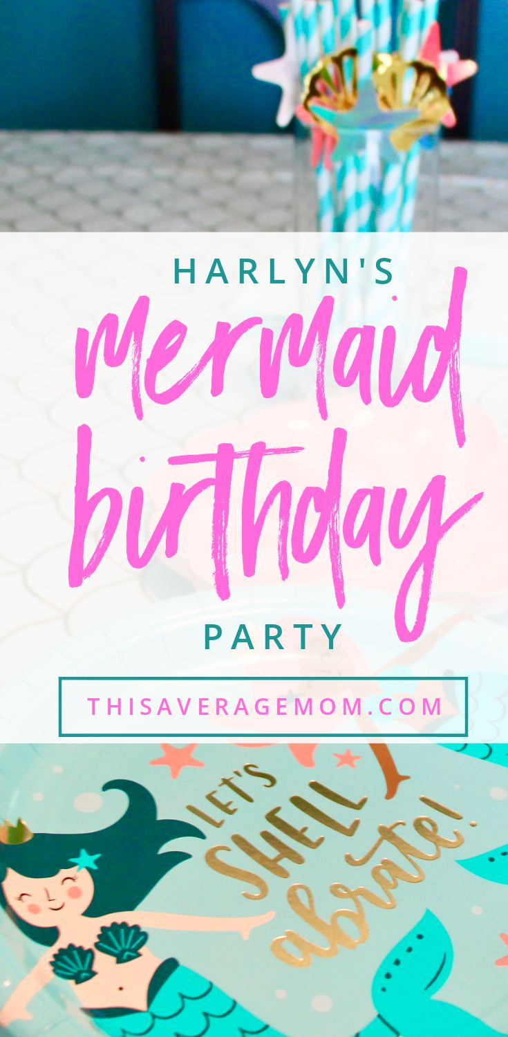 If you are like me, you don't want to spend weeks or months planning a birthday party. But you still want a special and fun day for your birthday girl! We used Target's party aisle to do a mermaid 5th birthday party, and our daughter loved it! #birthday #party #mermaid