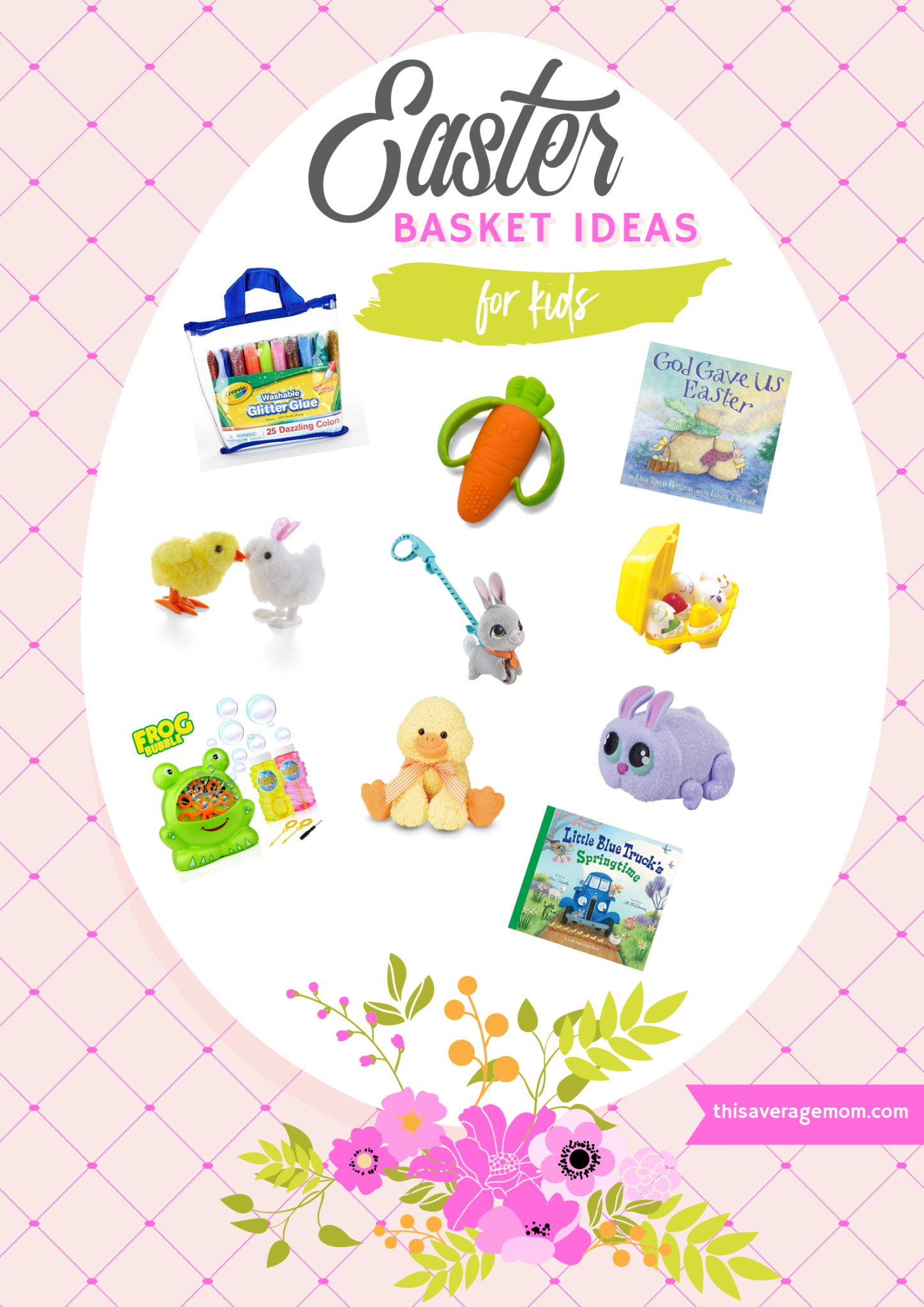 Not sure what the Easter Bunny should put in the kids' Easter Baskets? I've got you covered with these toys, books, and stuffed animals! #easter #easterbunny #easterbasket #springtime