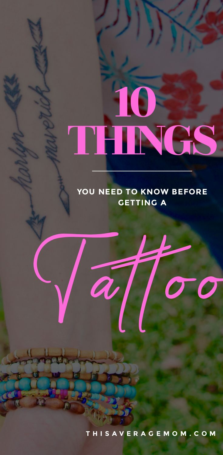 Considering getting a tattoo? I'm giving you an honest look at what getting ink entails. Here's my ten things you need to know before getting your first tattoo! #tattoo #tattoos #ink #smalltattoos #firsttattoo