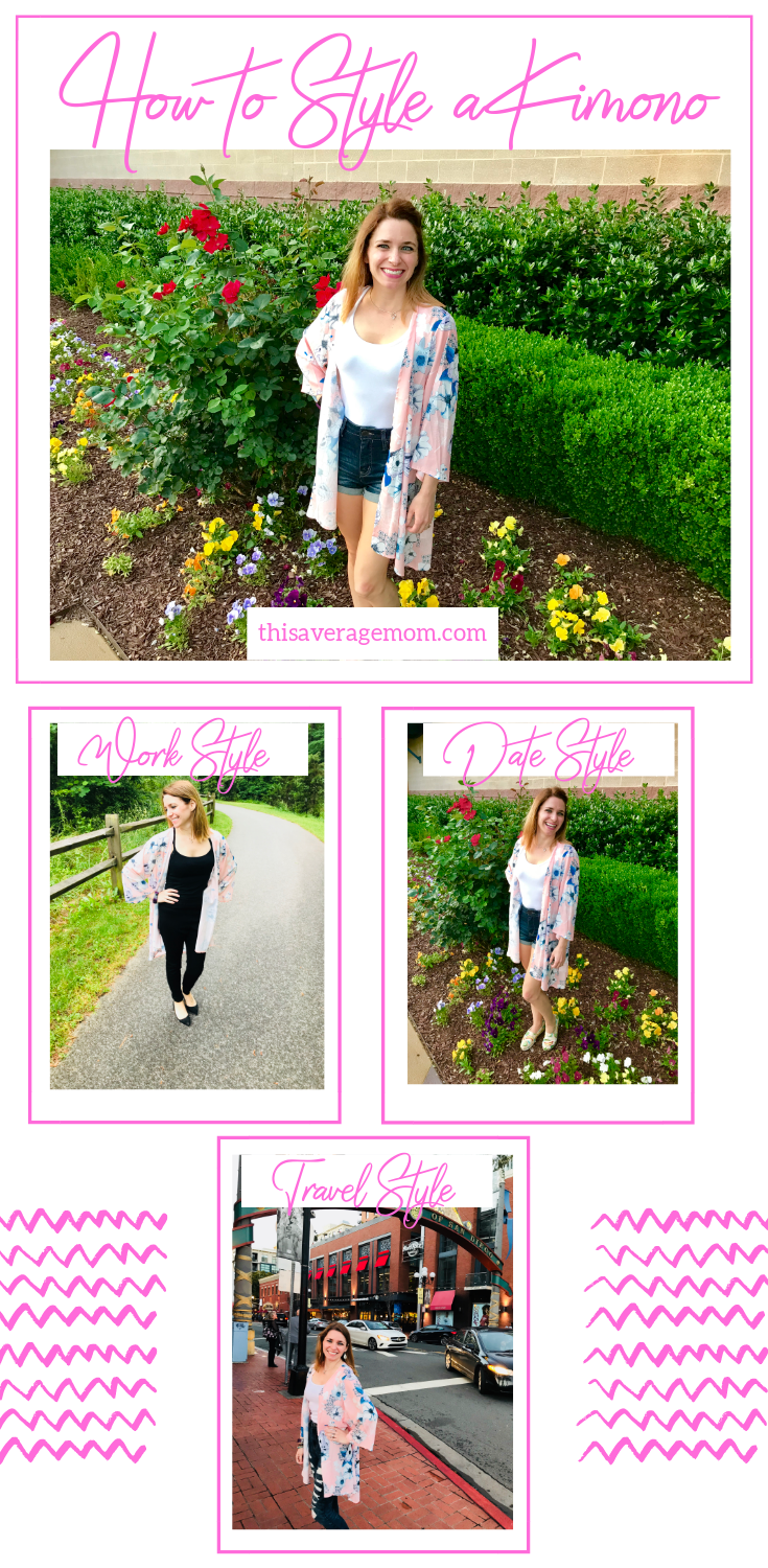 Not quite sure how or where to wear a kimono? Let me assure you--you can wear them almost anywhere and with anything! I'm showing you three ways you can wear kimonos! From business casual to date night to travel, kimonos are a great, affordable fashion choice.