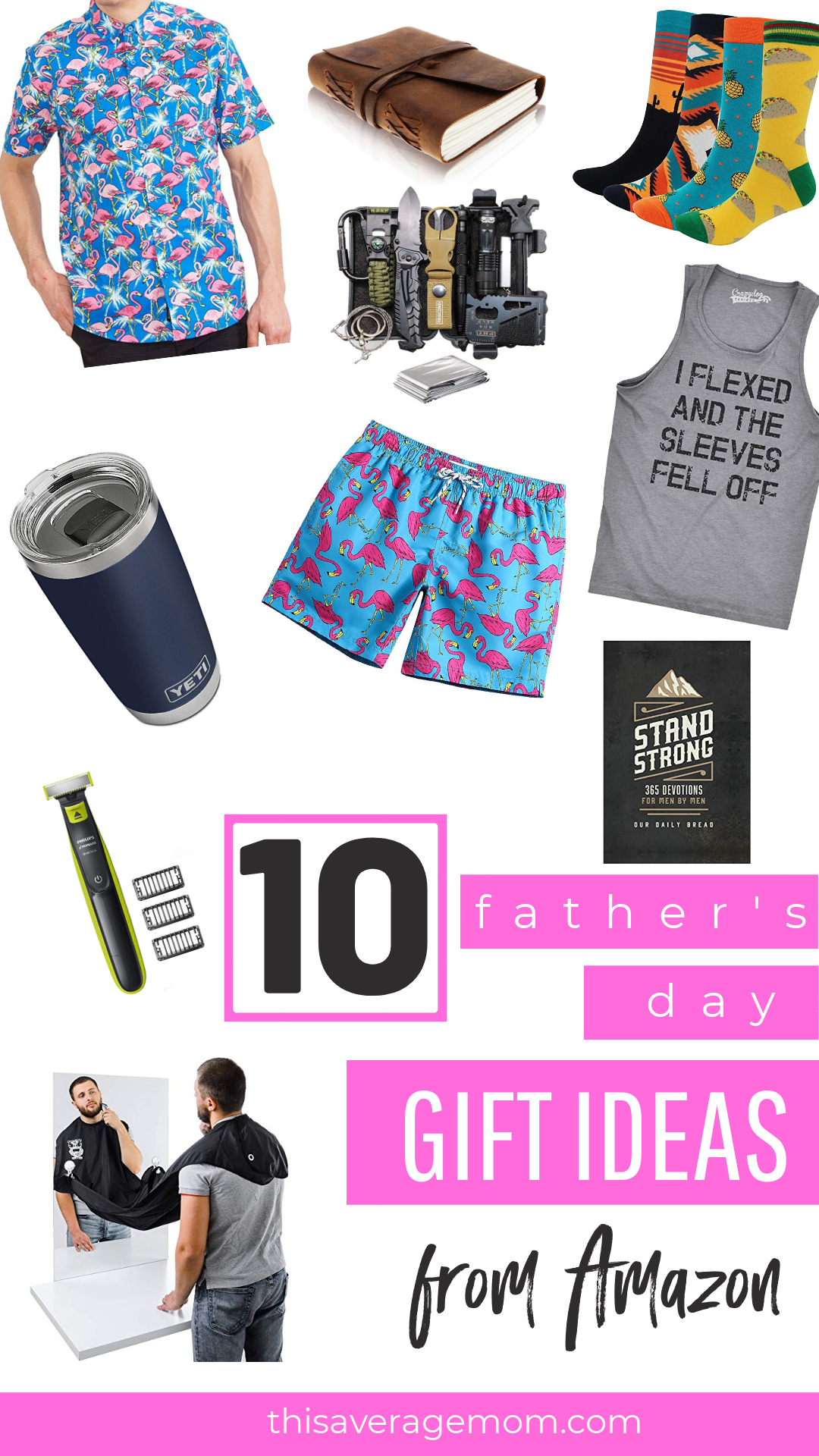Father's Day is coming up quick! I've got you covered with ten ideas for what to get the men in your life for Father's Day. Whether you're shopping Amazon for your husband or your dad, I think there's a gift for him! #giftideas #fathersday