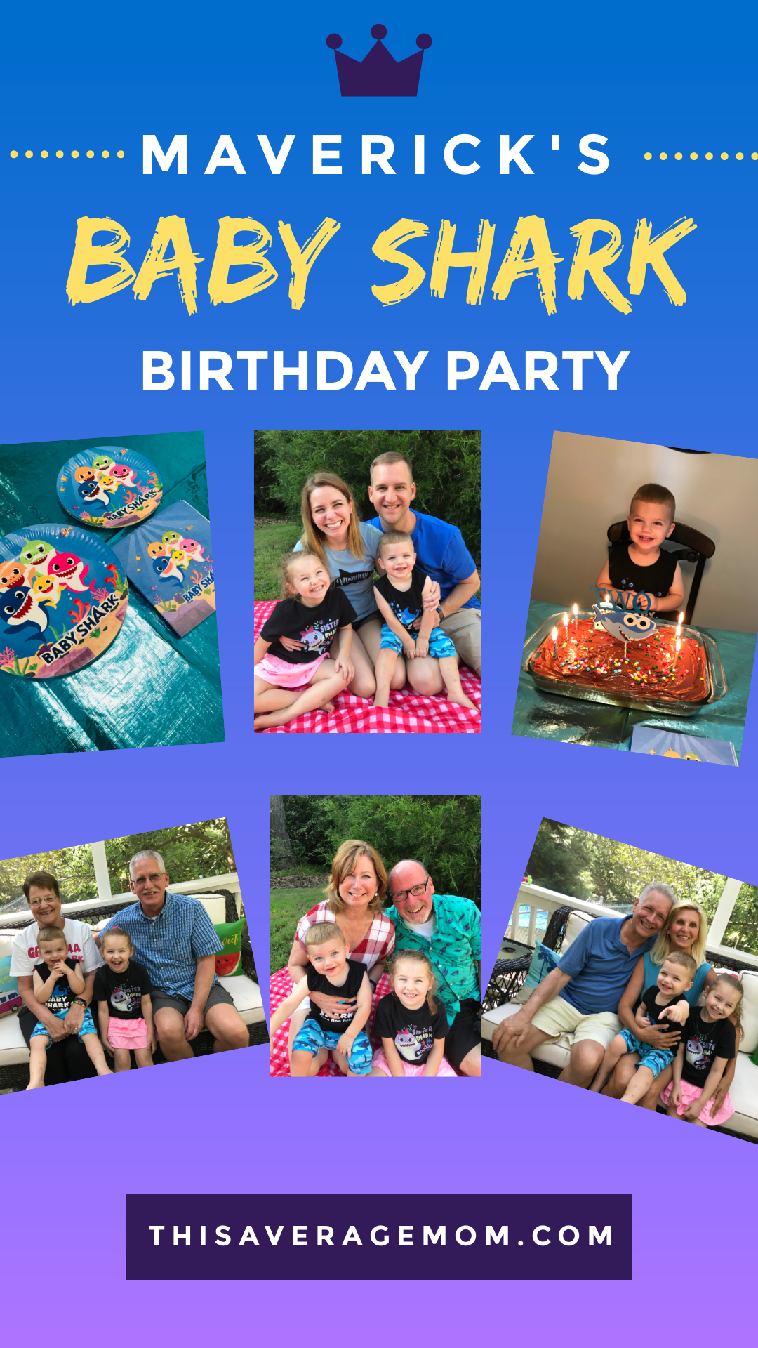 Did you know you can order everything you need for a simple Baby Shark birthday party online? Well, you can! We did, and our 2 year old loved his Baby Shark party, outfit, and day! #babyshark #partyplanning #birthdayparty