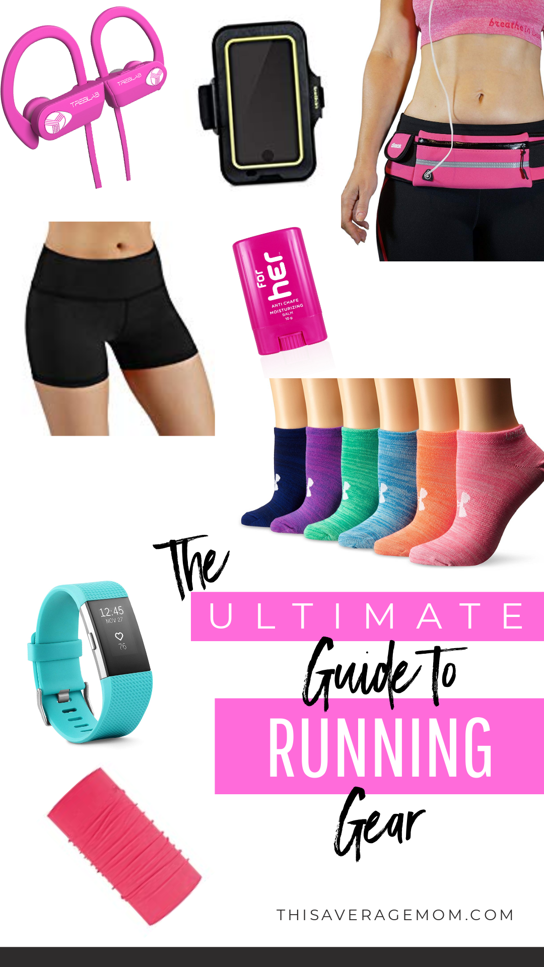 If you are a runner, you know there's a few things that make your run a more pleasant experience. Today, I'm sharing The Ultimate Guide to Running Gear, for those that may be thinking about running, or are a beginner or intermediate runner. #run #running #fitness