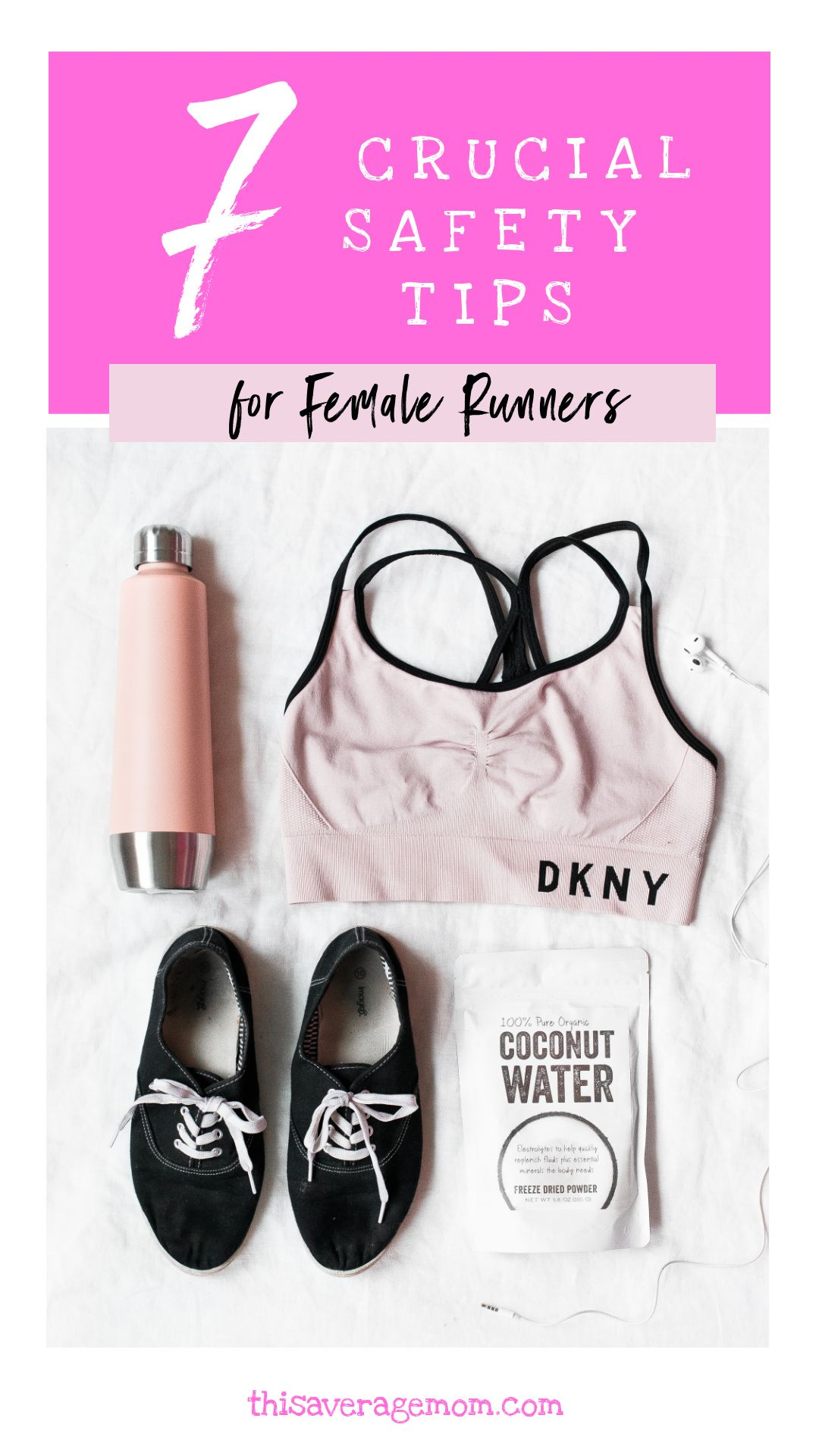As a female runner, I know the importance of staying safe while running. On the blog, I'm sharing 7 safety tips for women who run. #fitness #exercise #workout