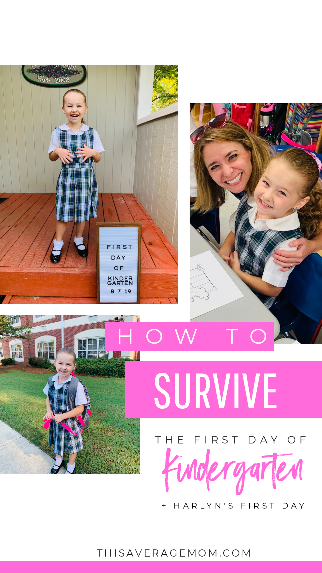 If you have a child entering Kindergarten, you might feel a little nervous. I was too. But the first day can be a good day!! Here's how to survive the first day of Kindergarten. #school #firstday