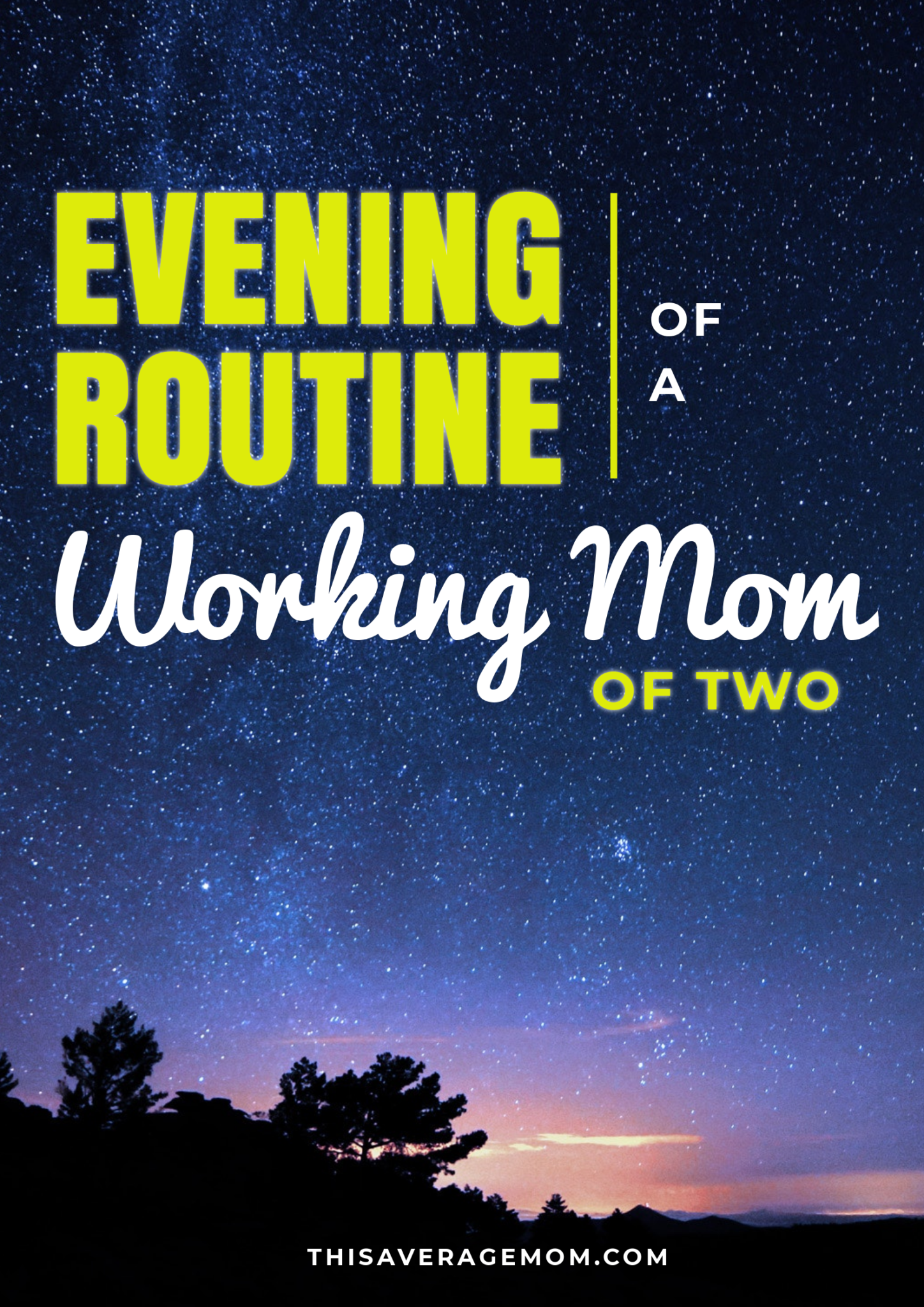 Being a working mom is not easy, and evenings can be a struggle. Between homework, dinner, baths and more, it can be hard to find the perfect evening routine. I'm sharing my routine with 2 kids and hoping it will help you see that we're all just making it work.