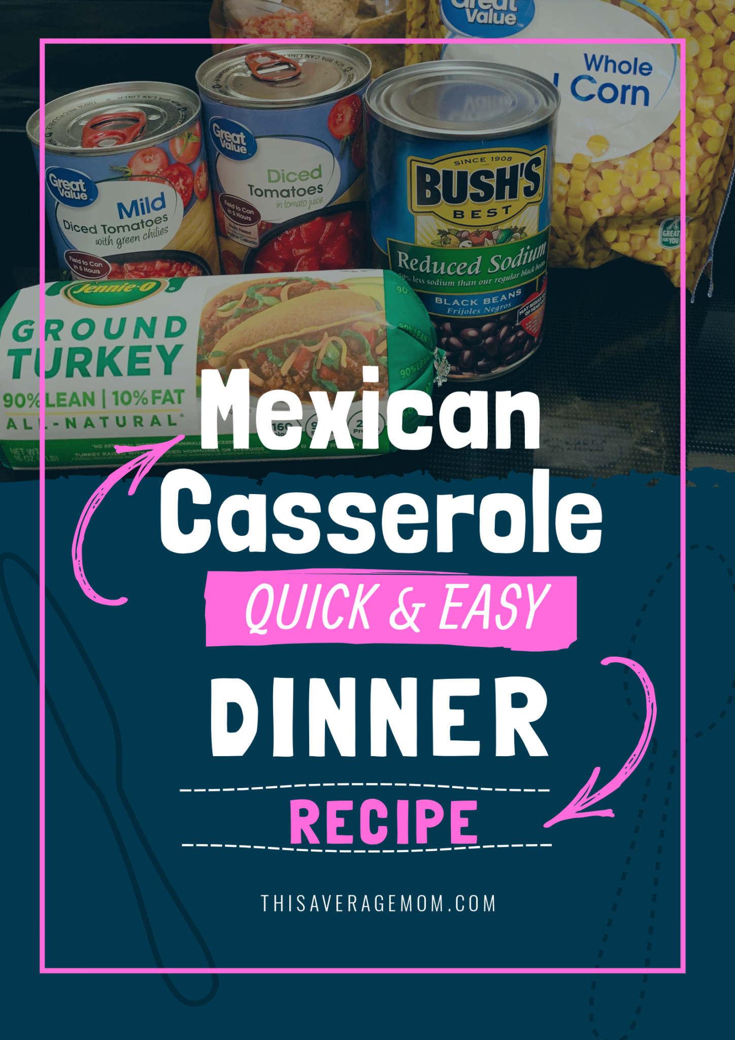 Not sure what's for dinner?  How about this super quick and easy mexican casserole? Recipe is on the blog!  #dinner #dinnerideas #recipe #fallmeals