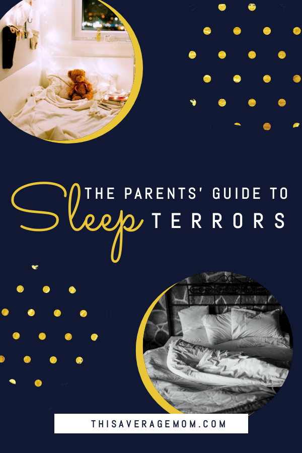 If you've ever been concerned that your child might be having a sleep terror (night terror), this is the blog post you need. Sleep terrors can seem like nightmares, but actually are not the same thing. Common questions (and their answers!) about sleep terrors are on the blog! #toddler #preschool #sleep #bedtime