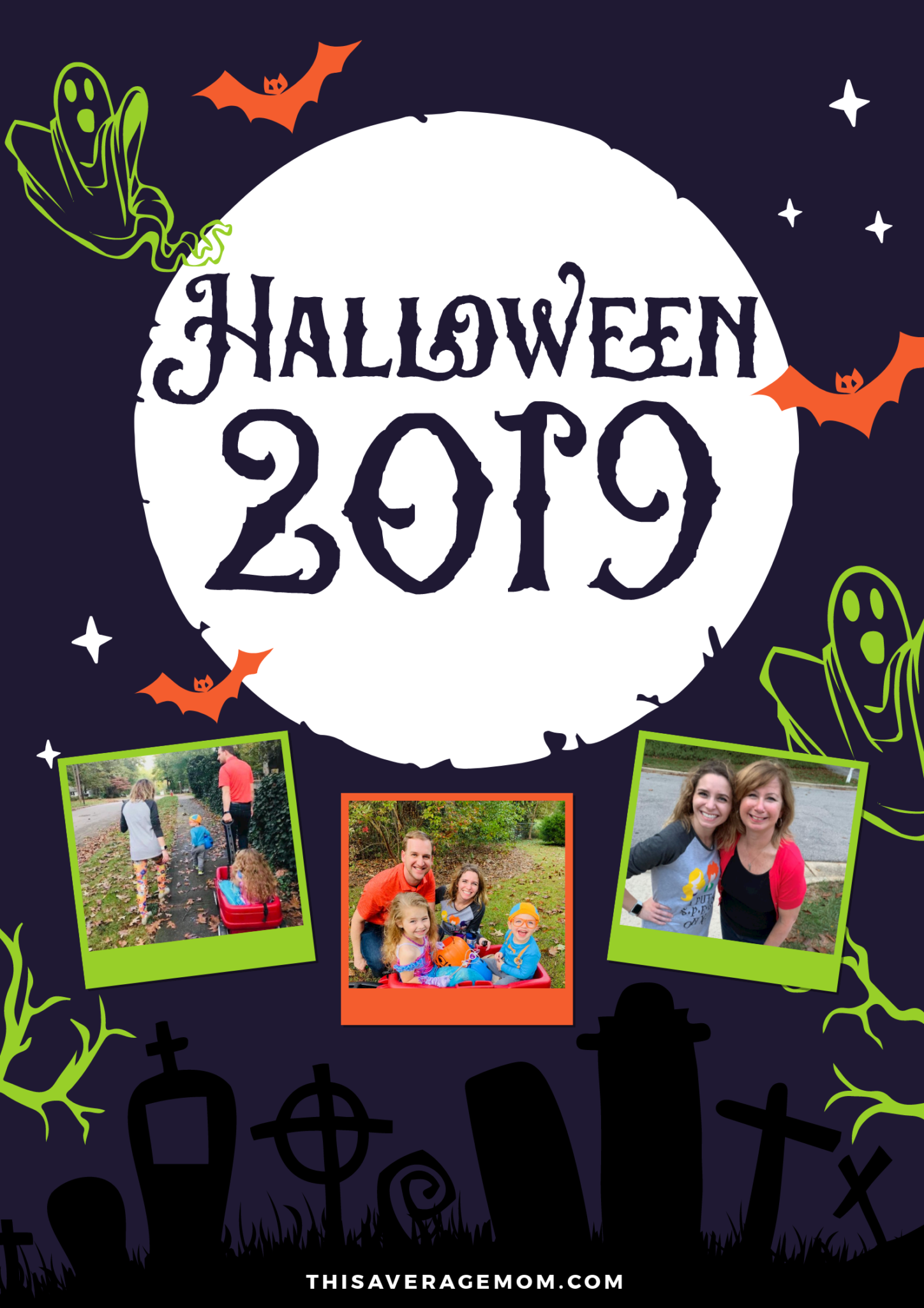 Halloween fun is on the blog! We had a mermaid princess and Blippi this year, and our kids LOVED every second of the night. #halloween #trickortreat #family