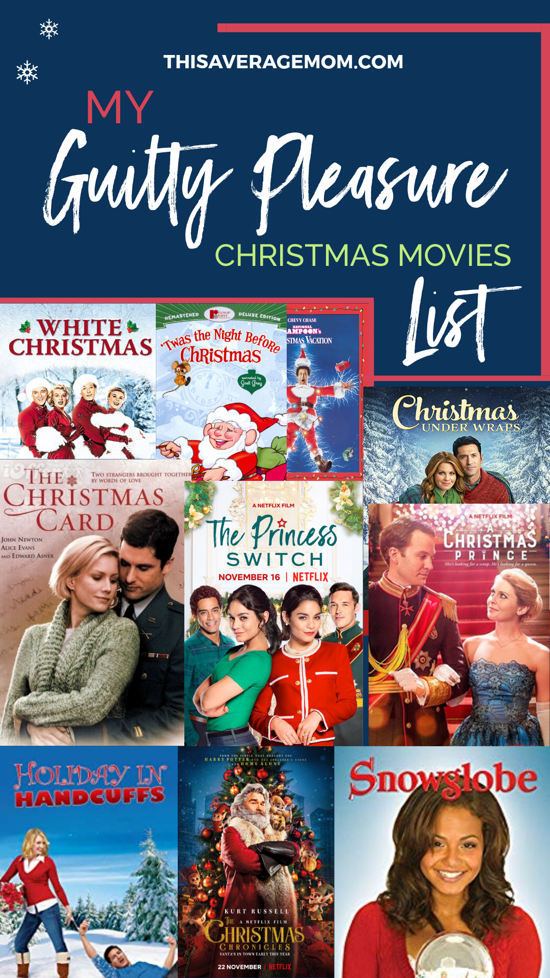 I'm talking about all the corny, amazing Christmas movies on the blog today! From Hallmark, to Netflix, to DVDs and On Demand, I've got you!! Grab your fuzzy slippers, cozy blanket, and hot cocoa because it's time to snuggle up with a good holiday movie!! FA LA LA LA LA!