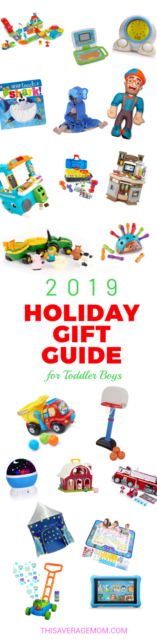Need some gift ideas for toddler boys? I have you covered! Here's 20 toys that boys 1-3 (and beyond!) will love this Christmas. #christmaslist #santa #holidays