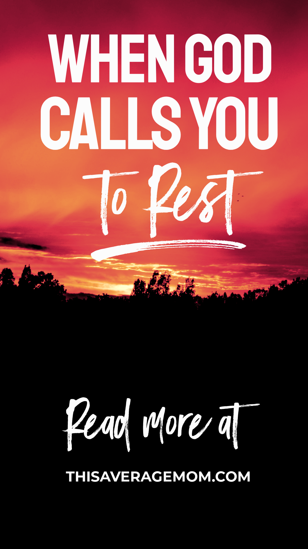 We lead such busy lives that resting can feel impossible. But what about when you can't kick that tired feeling, when you're always overwhelmed, and when you keep hearing a whisper that it's time to rest? It's all on the blog! #rest #R&R #momlife