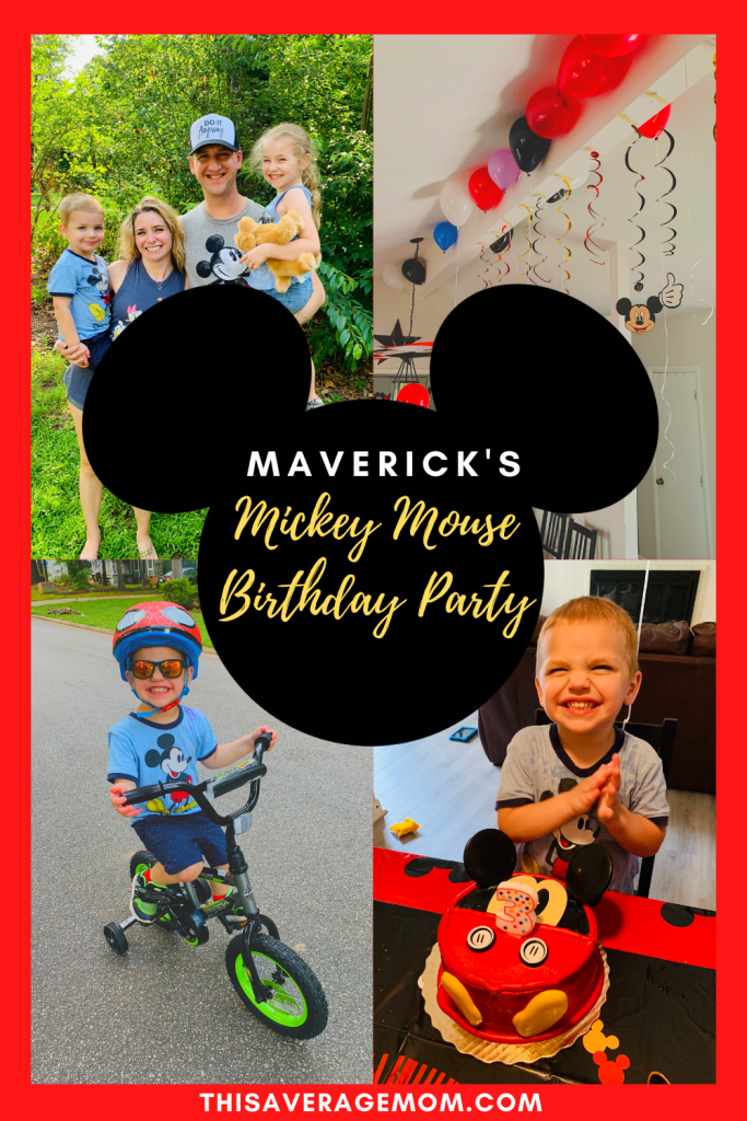 I'm a fan of easy, simple birthdays for kids. This year, Maverick requested a Mickey Mouse birthday cake. Just showing a bit of Mav's Mickey party on the blo