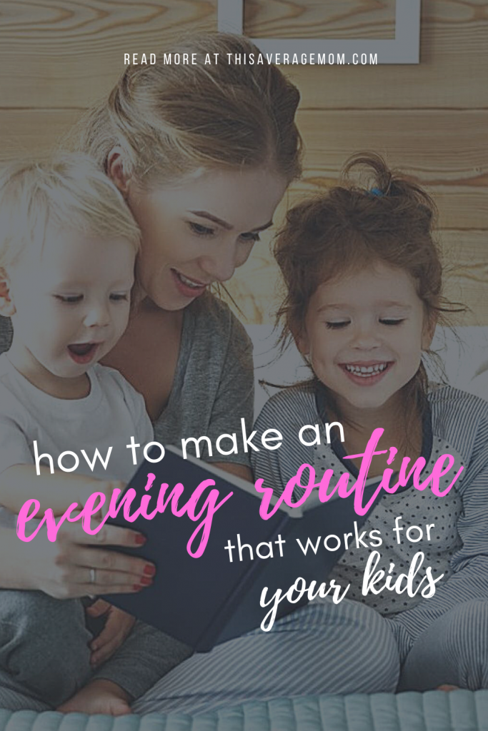 In our house, our evening routine is really important. We try to balance the stuff we have to do, like baths, with the things we want to do, like play and read books with the kids. Here's a few things to consider when making your own evening routine!